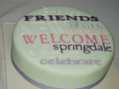Picture of the cake celebrating the new atrium