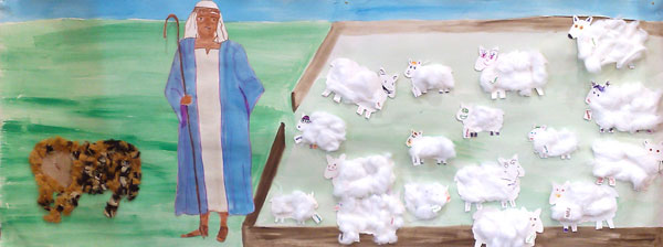 Picture of a poster produced at April's Family Hotpot - theme the Good Shepherd