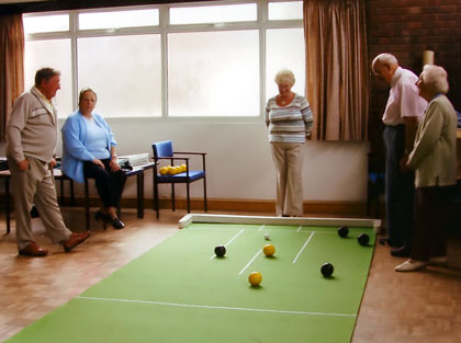 Photograph of the Bowling Group in action