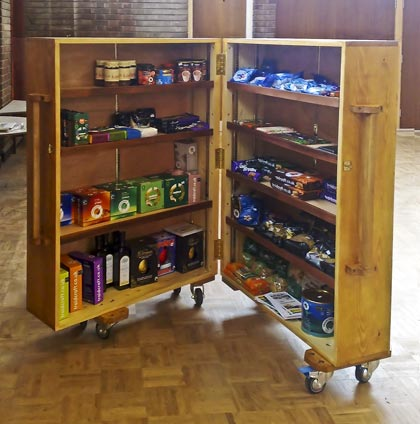 photograph of the new Fairtrade cabinet