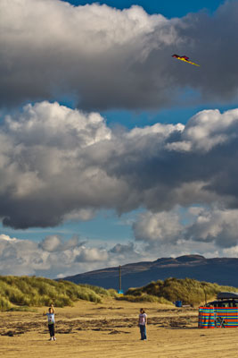 Picture of kite-flying on Black Rock Sands