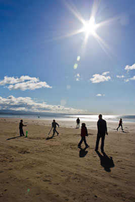 Picture of beach cricket at Black Rock Sands